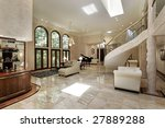 large living room with circular ... | Shutterstock . vector #27889288