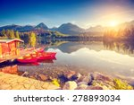 fantastic mountain lake in... | Shutterstock . vector #278893034
