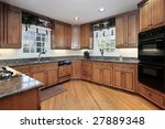 kitchen with hickory cabinets | Shutterstock . vector #27889348