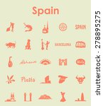 it is a set of spain simple web ... | Shutterstock .eps vector #278895275