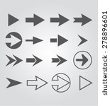 arrow set | Shutterstock .eps vector #278896601