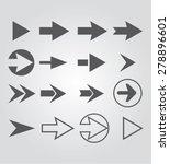 arrow set | Shutterstock .eps vector #278896601