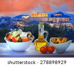 Acropolis With Greek Salad In...