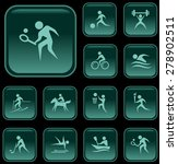 sport button set | Shutterstock .eps vector #278902511