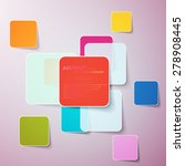 collection of paper notes with... | Shutterstock .eps vector #278908445