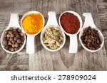 spices. spice in white bowls... | Shutterstock . vector #278909024