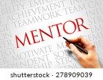 mentor word cloud  business... | Shutterstock . vector #278909039