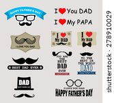 happy father's day badges and... | Shutterstock .eps vector #278910029