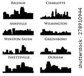 8 city in north carolina  ...   Shutterstock .eps vector #278910944