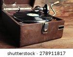 Vintage Turntable Vinyl Record...