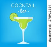 cocktail bar illustration with... | Shutterstock .eps vector #278911934