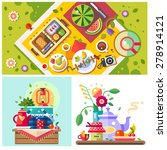 picnic in the park. sunny day... | Shutterstock .eps vector #278914121