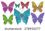 vector set of colorful... | Shutterstock .eps vector #278920277