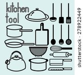 classic kitchen tool various of ... | Shutterstock .eps vector #278922449