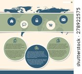 website template design with... | Shutterstock .eps vector #278922575