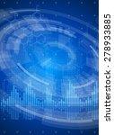 technology blue background  ... | Shutterstock .eps vector #278933885