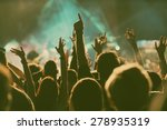 crowd at concert   retro style... | Shutterstock . vector #278935319