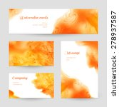 set of business cards and... | Shutterstock .eps vector #278937587
