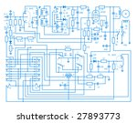 electronic plan | Shutterstock . vector #27893773