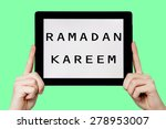 Tablet Pc With Text Ramadan...