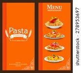 menu for restaurant vintage... | Shutterstock .eps vector #278953697