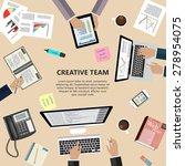 modern flat design creative... | Shutterstock . vector #278954075