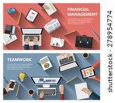modern flat design financial... | Shutterstock . vector #278954774