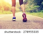 young fitness woman legs... | Shutterstock . vector #278955335