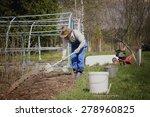 gardener to plant the seedlings ... | Shutterstock . vector #278960825