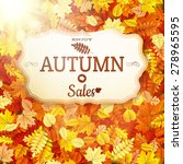 autumn sale vntage signboard.... | Shutterstock .eps vector #278965595