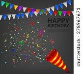 exploding confetti popper... | Shutterstock .eps vector #278967671
