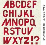 retro font in red on shabby... | Shutterstock .eps vector #278967959