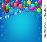happy birthday party with...   Shutterstock .eps vector #278968271