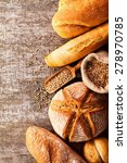 assortment of baked bread on... | Shutterstock . vector #278970785