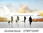 international airport terminal... | Shutterstock . vector #278971049