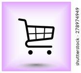 shopping cart sign icon  vector ... | Shutterstock .eps vector #278974949