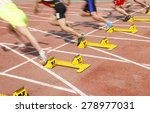 sports meeting  the athlete... | Shutterstock . vector #278977031