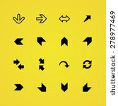 arrows icons universal set for... | Shutterstock . vector #278977469