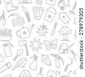 vector white seamless pattern... | Shutterstock .eps vector #278979305