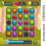 game interface screen ...