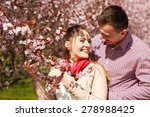 dating. young woman and man... | Shutterstock . vector #278988425