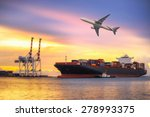 ship for container with working ... | Shutterstock . vector #278993375