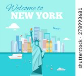 Flat Style Banner With New York ...