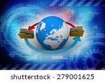 file folders connected to a... | Shutterstock . vector #279001625