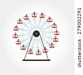 ferris wheel  fair concept ... | Shutterstock .eps vector #279002291