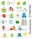 house vector icons for web.... | Shutterstock .eps vector #27900784