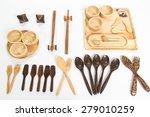 wooden kitchen utensils on... | Shutterstock . vector #279010259