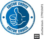 editors choice blue label  ... | Shutterstock .eps vector #279010691