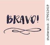 modern brush lettering. hand...   Shutterstock . vector #279012419