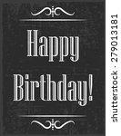 happy birthday card ... | Shutterstock .eps vector #279013181